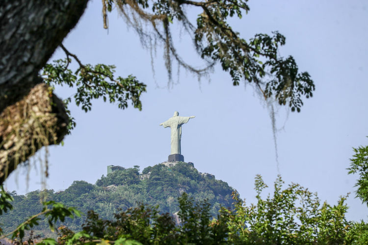christ the redeemer framed Frame Mountain Nacional Landmark Landmark Christ The Redeemer Rio De Janeiro Tree City Statue Sculpture History Religion Spirituality Sky Architecture Monument National Monument Mountain Range Rocky Mountains