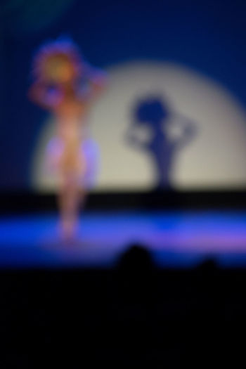 Out Of Focus Performer  Audience Blue Blur Dancer Illuminated Spot Light  Stag
