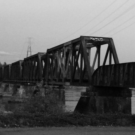 Emptiness IPhoneography Black & White Bridges Water_collection Night Photography Blackandwhite Train Tracks