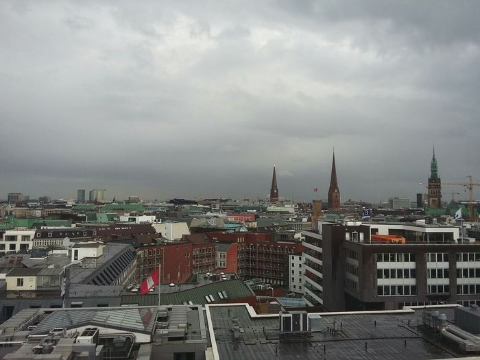 Roofs of Hamburg. · Germany 040 Rooftops Rooftop View  Rooftop Scenery Architecture Urban Landscape Cityscape Clouds And Sky Clouds Cloudy Day