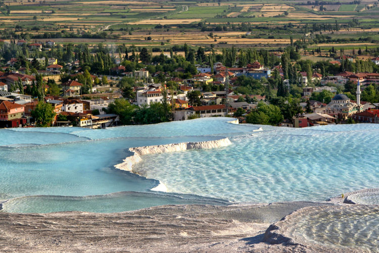 Beauty In Nature Landscape Miracle Of Nature Nature No People Outdoors Pamukkale Pamukkale/Turkey Places Of Interest Spa Water