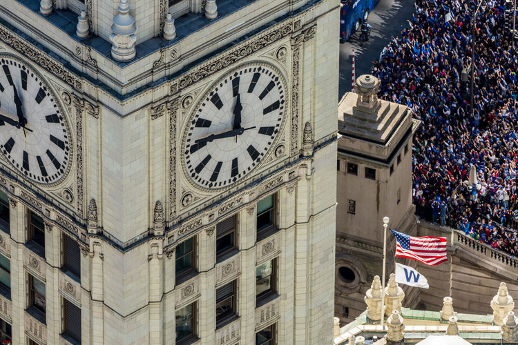 All we do is WIN Architecture Built Structure Building Exterior Flag Patriotism Clock Time Building Low Angle View No People Day City The Past History Travel Destinations Outdoors Clock Tower Government Clock Face Courthouse National Icon