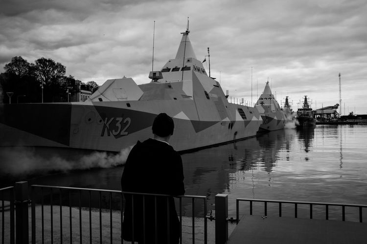 Black & White Blackandwhite Bnw Bnw_captures Bnw_collection Bnw_life Bnw_worldwide Bnwphotography Boat Dramatic Dramatic Sky Photo Photography Refelction  Refelections Ship War Warship