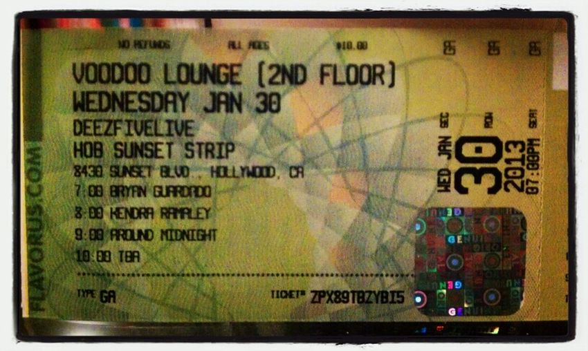 you know what rocks?.. seeing your name on a ticket for the House of Blues.... yeah.