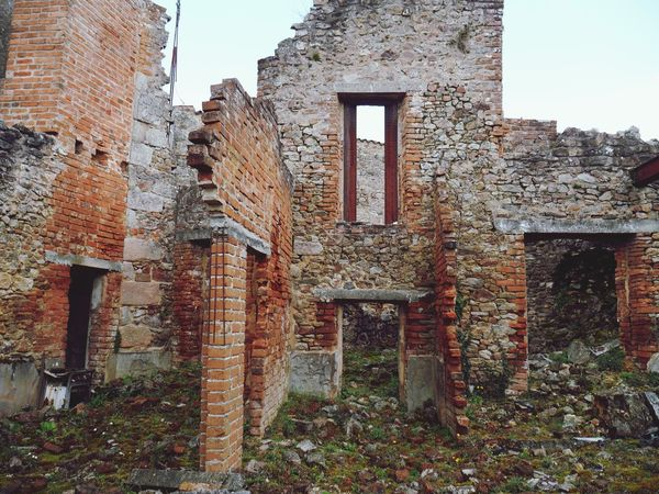 Bombed Oradour Sur Glane Destroyed Ruined Ruined Buildings Bomb Damage Memorial Shell