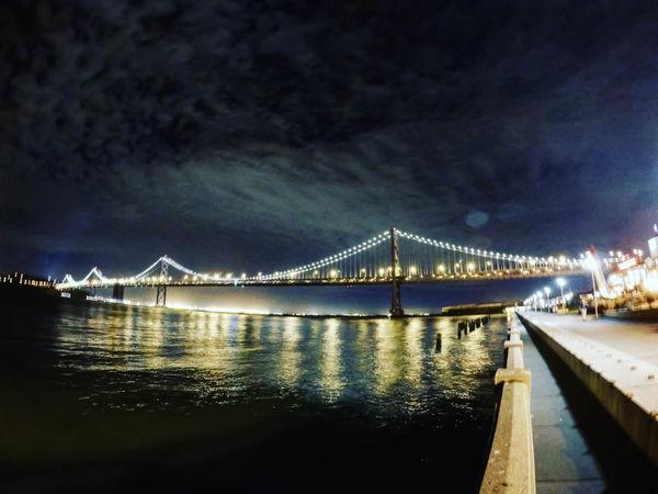 San Francisco Bay Bridge Nightphotography San Francisco SanFranciscoBay SanFranciscoBayArea Architecture Bridge Bridge - Man Made Structure Gopro Shots Goprohero4 Illuminated Nightlights Oakland Bay Bridge Sanfrancisco Sanfranciscobaybridge Sanfranciscocalifornia Waterfront
