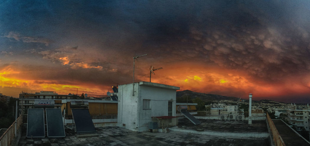 fire in the sky 43 Golden Moments Cityscapes Cloud Cloud - Sky Clouds And Sky Cloudy Panorama Scenics Sky Sunset