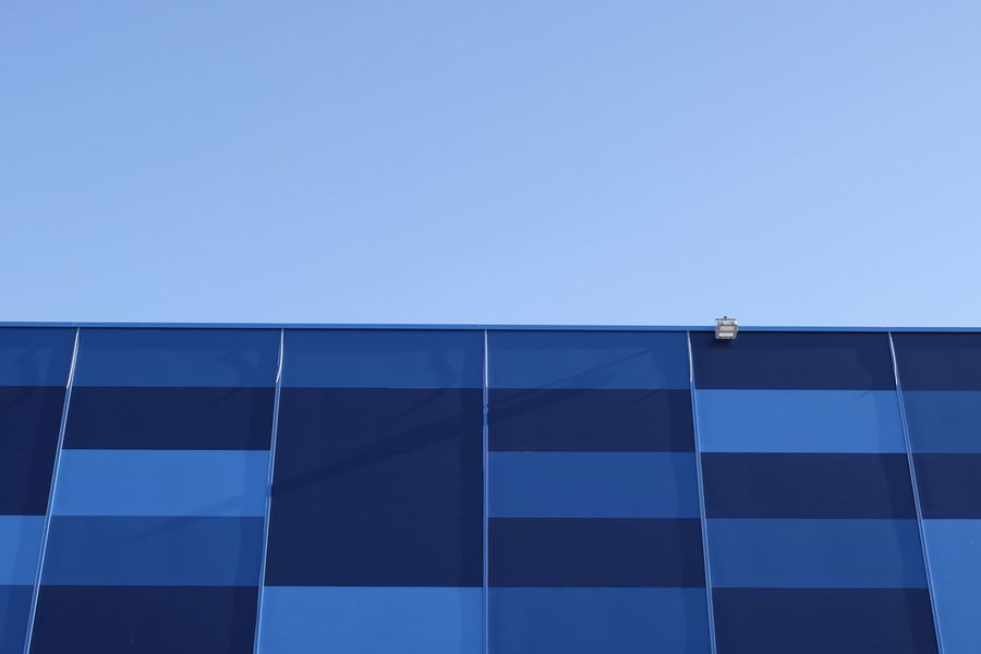 Architecture Blue Building Exterior Built Structure City Clear Sky Day Low Angle View Modern No People Outdoors Sky