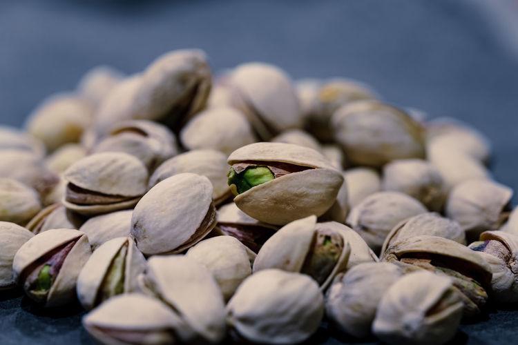 Close-up of pistachios