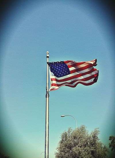 Spangled Banner Flag American Flag Home Of The Brave America Check This Out Flags In The Wind  Taking Photos Eyem Best Shots Cool Picture Eyembestedit No People Tempe Az