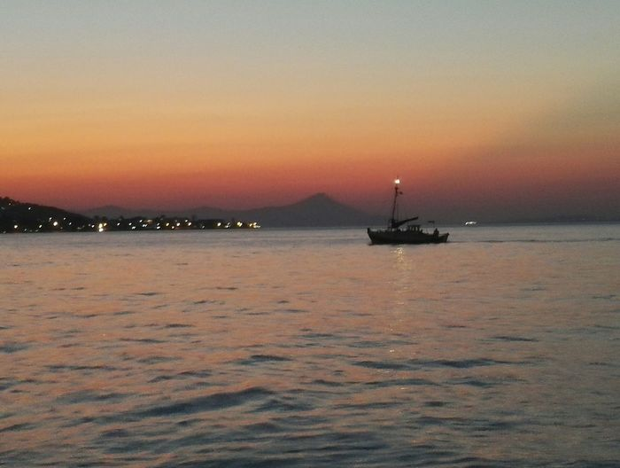 colour of life Summer Taking Photos Greece Athens Nautical Vessel Sea Sunset Beach Water Silhouette Horizon Over Water Seascape Coast Sailing Boat Water Vehicle Calm Romantic Sky Sailboat Coastline Sailing Ship Waterfront