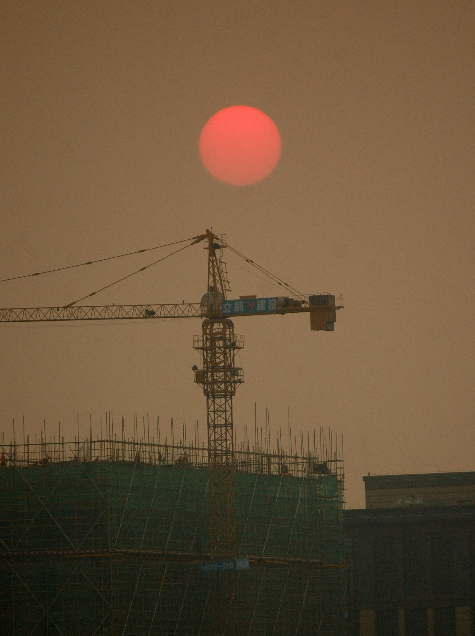 sky, architecture, built structure, sunset, nature, technology, no people, electricity, evening, light, industry, outdoors, moon, machinery, lighting, dusk, construction industry, building exterior, line, crane - construction machinery, transmission tower, silhouette, low angle view