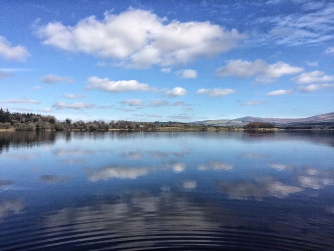 Reflections Sky Reflection Tranquil Scene Tranquility Beauty In Nature Scenics Lake Landscape Mountain Blessington Wicklow Wicklow Mountains  Irelandinspires Ireland Mountains And Valleys Blessington Lake Outdoors Irishlandscape Stillwater Nature Mountains Blue Blue Sky Water Hometown