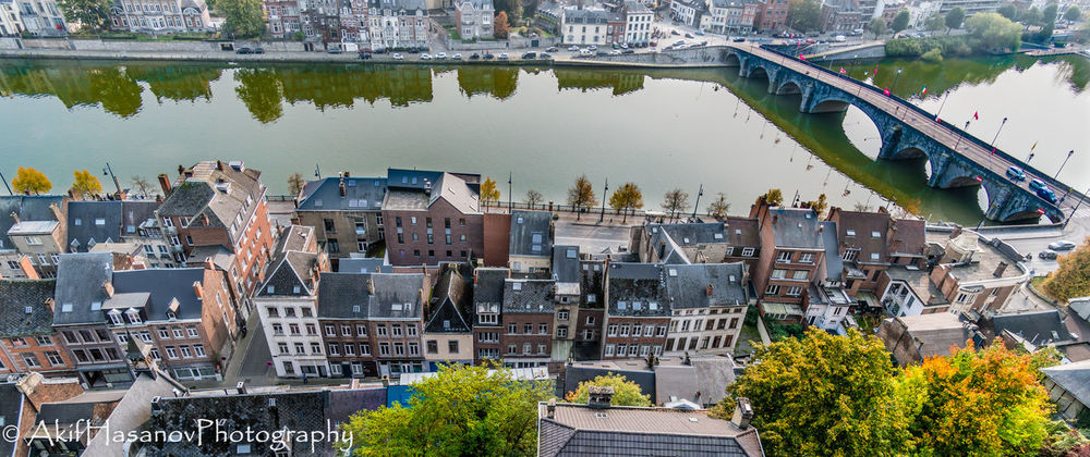 Namur, Belgium Architecture Bridge - Man Made Structure Building Exterior Built Structure City High Angle View Water