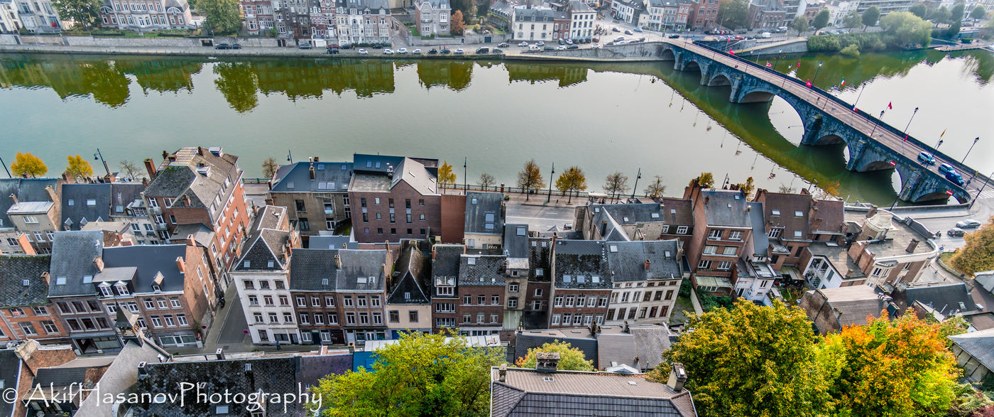 Namur, Belgium Architecture Bridge - Man Made Structure Building Exterior Built Structure City High Angle View Water
