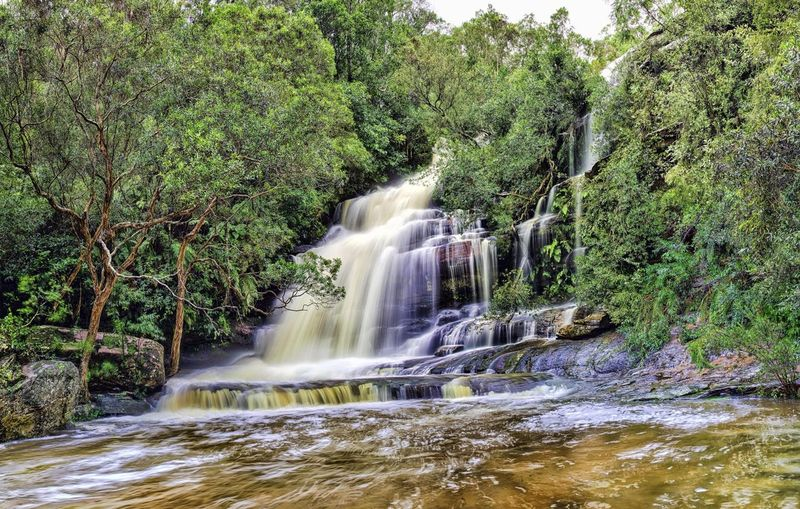 Somersby Falls Waterfall Panorama HDR Landscape Landscape_Collection Landscapes After The Storm Water Nature