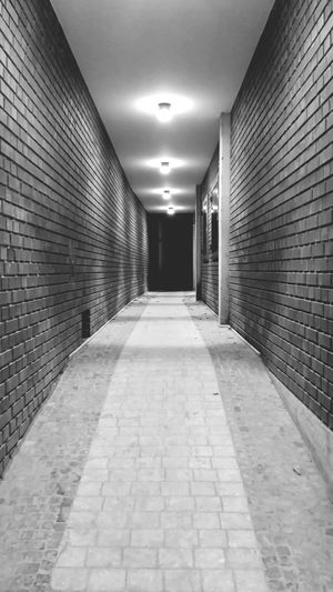 EyeEm Selects Architecture Corridor The Way Forward Illuminated EyeEm Gallery Eyeemphotography Billerbeck Germany 🇩🇪 Deutschland Samsung Galaxy S5 Smartphonephotography Samsungphotography Lights In The Dark Lights And Shadows Black And White Friday Black And White Blackandwhite Photography