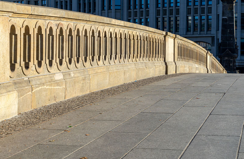 View of railing of bridge