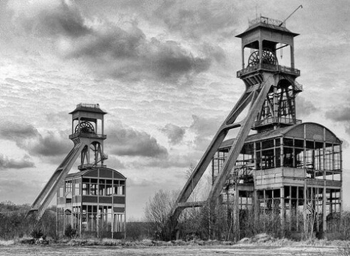 Pithead Coal Mine Alternative Processing Black And White Nik Silver Efex