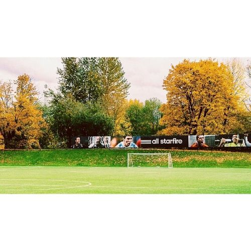 Throwback Soccer Game Playoffs cold fall foliage fallcolors autumn scenicview starfire naturelovers photooftheday messi travel amazing adidas futbol football soundersfc vscogrid beautiful soccerfield vsco vscocam