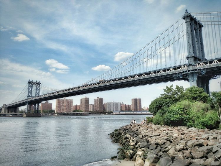 Manhattan Bridge Bridge Manhattan Brooklyn NYC NY New York Newyork New York City City Urban Urban Landscape Cityscapes Urban Photography City View  My City Perspectives Amazing Landscape Beautiful Water_collection Water Reflections Blue HDR NYC Photography The Week On Eyem