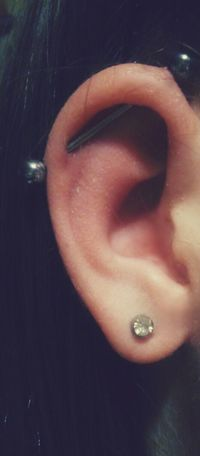 My Industrial Piercing  Lovelovelove Alternativegirl I Don't Care About Other People's Opinions, I Love My Life! ;)