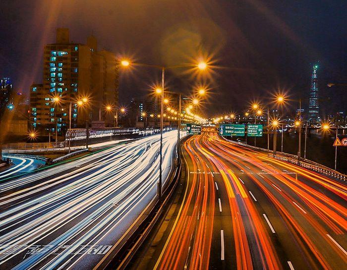 Photoofthenight Nightphotography Lighttrails Night Lights Cars Long Exposure South Korea EyeEm Best Shots Sonyalpha Sony A6000 Sony EyeEm Around The World Sonyimages MyPhotography