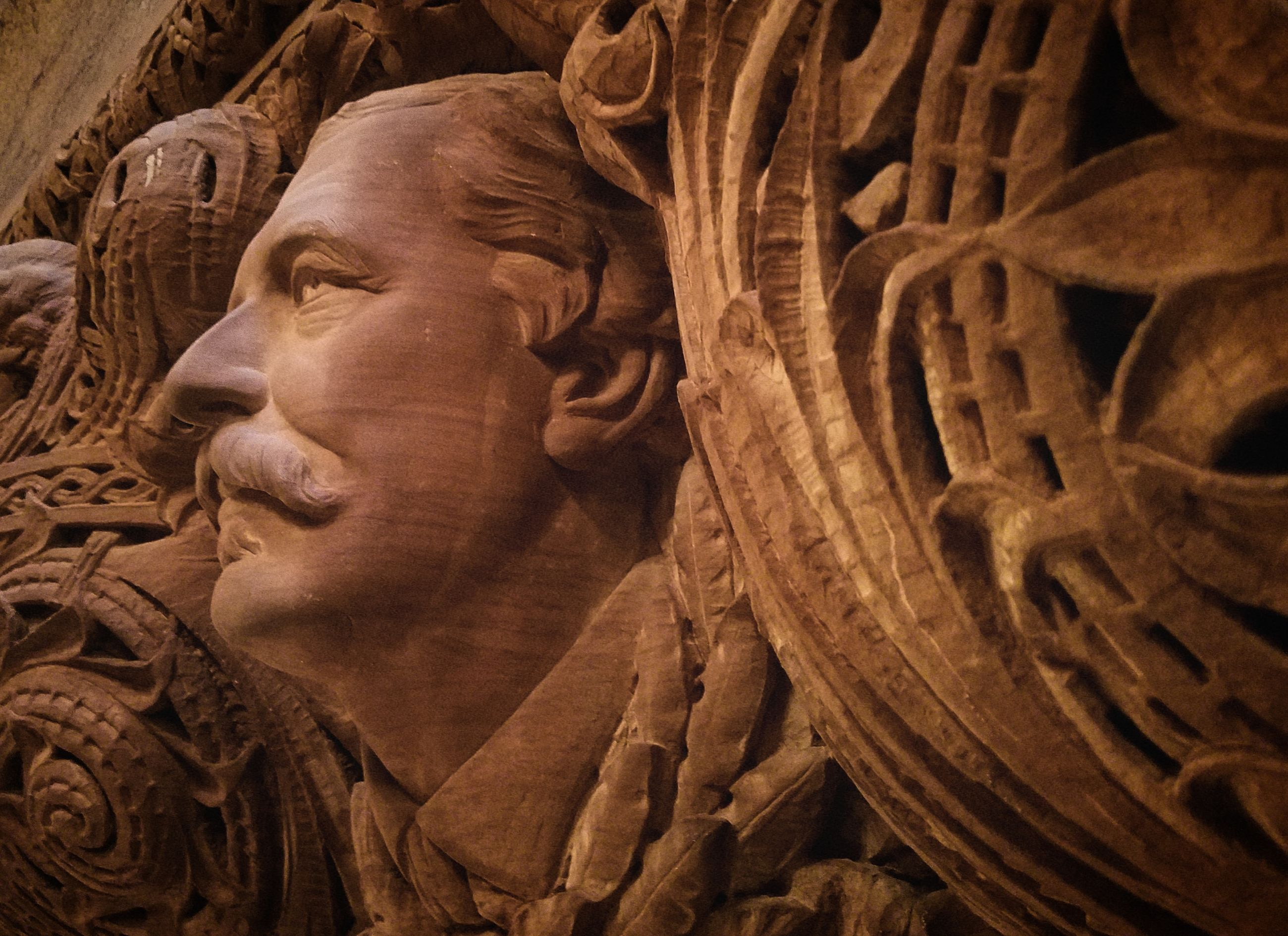 sculpture, art and craft, history, statue, human representation, craft, the past, representation, close-up, architecture, creativity, no people, carving - craft product, ancient, male likeness, indoors, travel destinations, portrait, ancient civilization, archaeology, bas relief, ornate