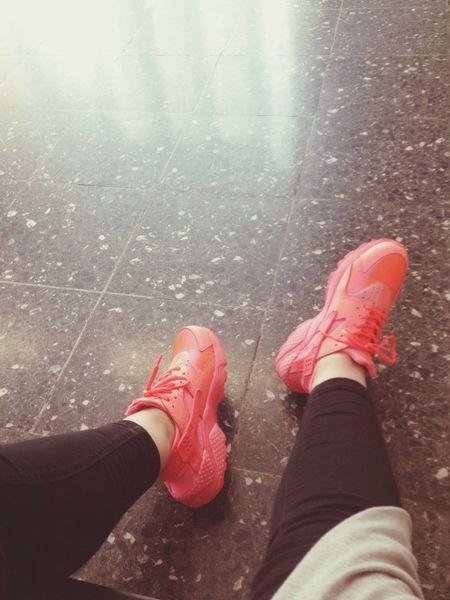 Color Portrait I Love It ❤ Nikes Nikeshoes Nike Huarache  So Nice ^^