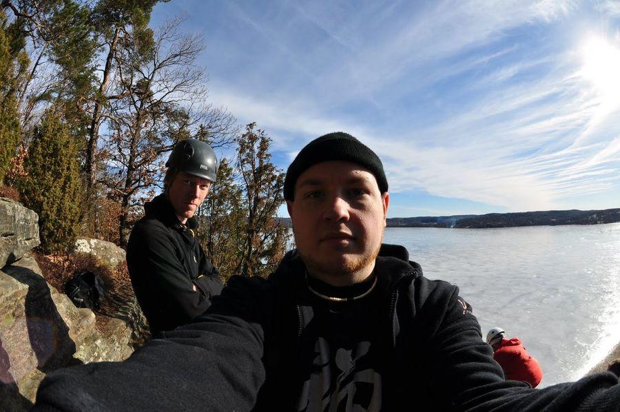 Me, Myself And I Climbing Fisheye Winter