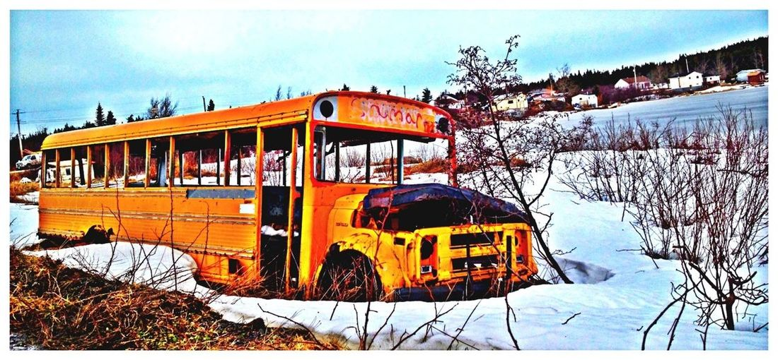 Abandoned Taking Photos Winter Eye4photography  What The Bus?