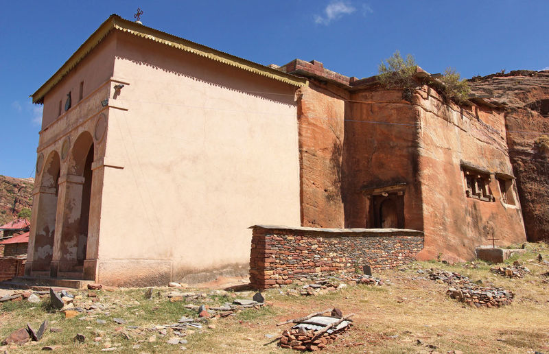 Monolithic church Abreha Atsbeha, Tigray, Ethiopia, Africa Abreha Atsbeha Africa Architecture Building Exterior Built Structure Chapel Church Ethiopia Monolithic Church No People Outdoors Religion Rural Sights Sightseeing Tigray Tourism Tourist Attraction  Travel Travel Destinations