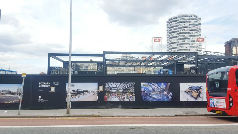 Cityscape Croydon Boxpark on the site of the long loved Warehouse Theatre Development Regeneration East Croydon