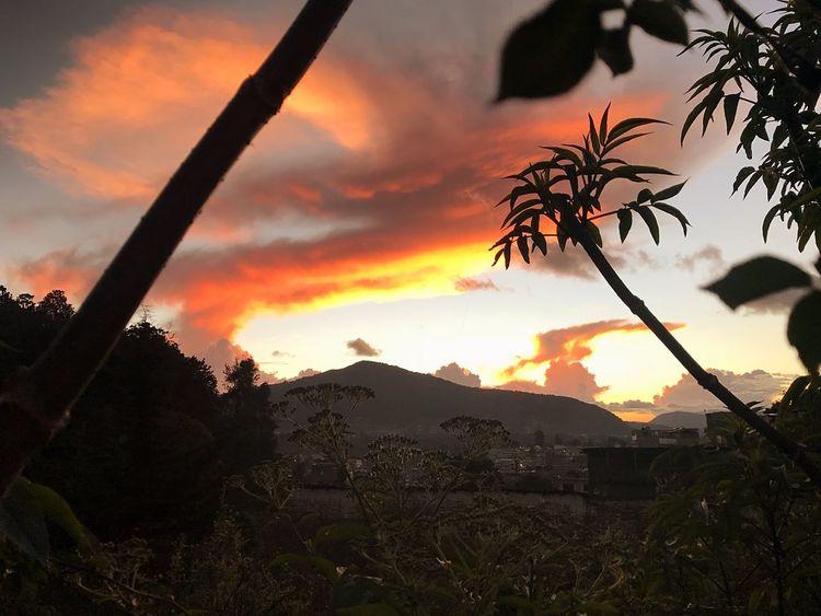 Sunset Sky Mountain Nature Cloud - Sky Cold Days Awesome_nature_shots Guatemala 🇬🇹