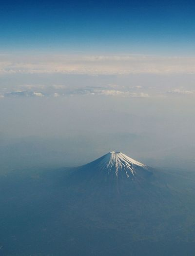 Mt.Fuji From An Airplane Window