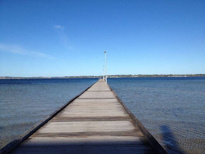 The Pier/Jetty Sky Blue Diminishing Perspective Water Direction Nature The Way Forward Outdoors EyeEmNewHere