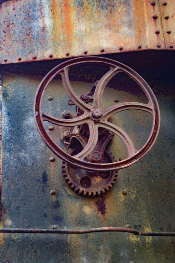 Abandoned Close-up Metal No People Railroad Run-down Rusty Train