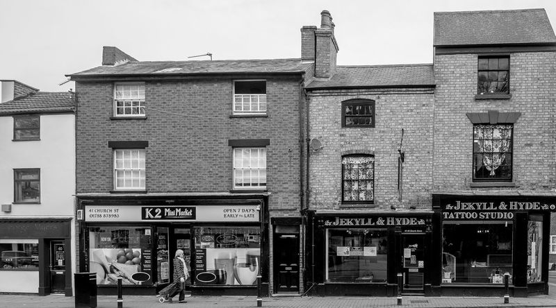 Shops, Church Street, Rugby, Warwickshire Warwickshire Rugby Rugbytown Black And White FUJIFILM X-T10 Monochrome Architecture Shops