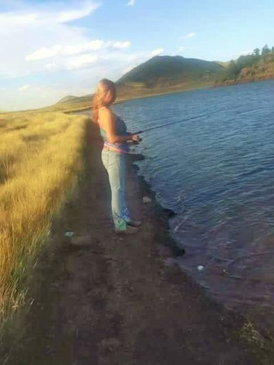 Mountain Fishing Relaxing Time Water And A Pole