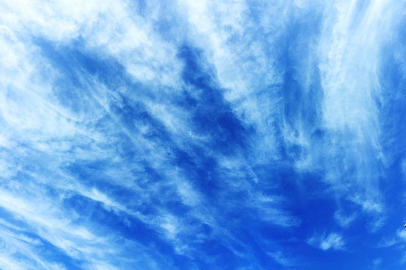 Sky Cloud - Sky Nature Blue Low Angle View Backgrounds Cloudscape Cirrus Heaven Tranquility Beauty In Nature No People Scenics Outdoors Sky Only Day