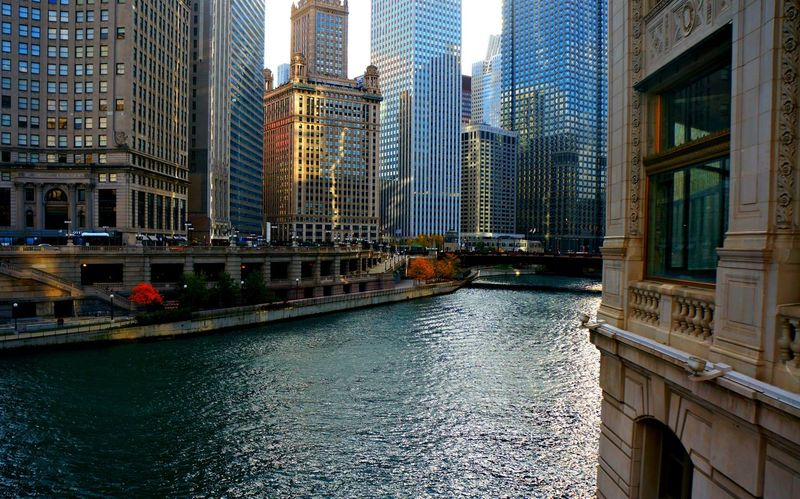 Architecture Art Building Building Exterior Built Structure Canal Chicago Architecture Chicago River Chicago Riverwalk City City Life Cityscape Modern Office Building People Places Things Photography Residential Building Residential District Rippled Sky Water Waterfront