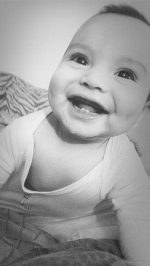 my handsome was a couple of months old!. My Handsome Son Throwback 6 Months Always Smiling