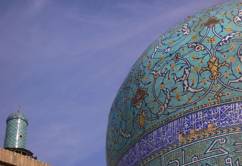 Blue Sky Building Exterior Dome Esfahan Iran Irantravel Ispahan Pastel Power Persia Roof Silk Road Travel In Iran Travel Photography Turquoise Voyages Miles Away Minimalist Architecture