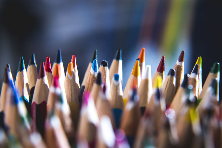 Bunch Of Pencils A Lot Of Pencils Art And Craft Art And Craft Equipment Choice Close-up Colored Pencil Colorful Craft Creativity Focus On Foreground High Angle View Indoors  Large Group Of Objects Multi Colored No People Pencil Selective Focus Still Life Variation Vibrant Color Writing Instrument