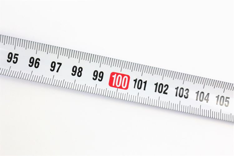 High angle view of ruler on table
