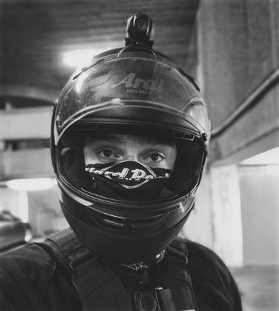 Monochrome Photography Portrait of a Biker (Me) - London Biker Portrait MC Blackandwhite Headshot Contrast Helmet Action Camera Protection Close-up TakeoverContrast Arai Motorcycle Motorbike Style Mood City Life Huawei Huaweiphotography HuaweiP9plus HuaweiP9 Selfy