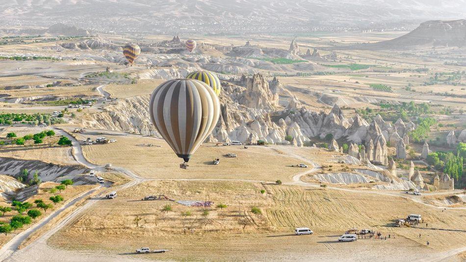 Cappadocia hot air ballon Aerial View Capadoccia High Up Hot Air Balloon Hotairballoon Landscape Outdoors Turkey