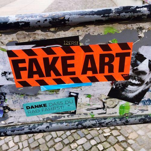Text Outdoors Day Spray Paint Communication No People Streetart Fake Fakeart