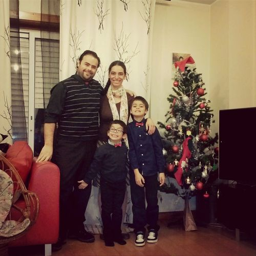 happy family - happy new year.