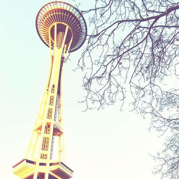 Sky Low Angle View Clear Sky Outdoors Spaceneedle Seattlecenter